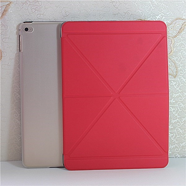 Simple colorful laether flip cover case for ipad pro 9.7