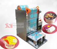 Table top automatic cup sealing machine/Professional design factory offer customized made sealer machine