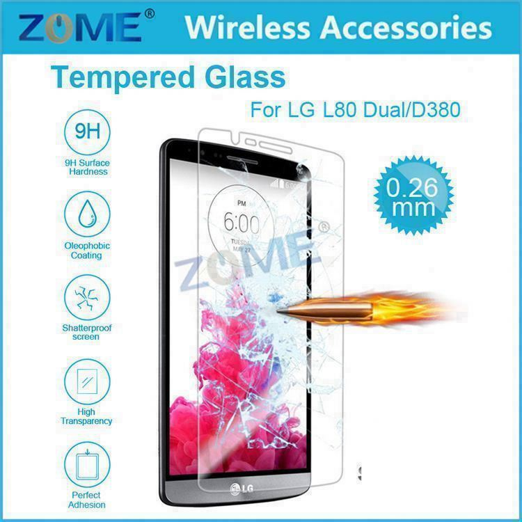 Tempered Glass For LG 80 Dual/D380 Glass Screen Protector 2.5D Rounded Edge