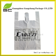 Shopping industrial use and gravure printing logo plastic T shirt bags