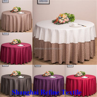 "Cheap polyester 132"" round table cloth"