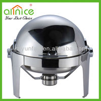 round overturning cover chafer/buffet chafer/stainless steel buffet warmer