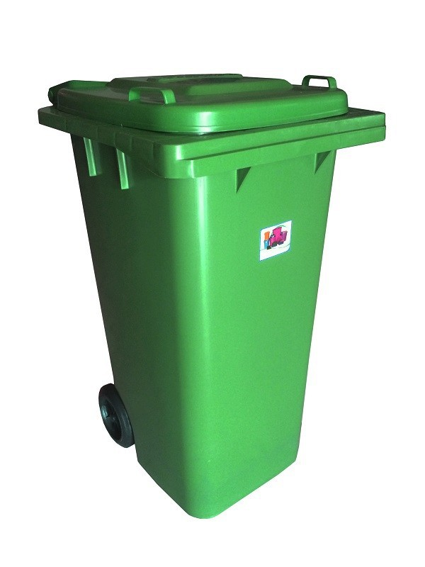 PLASTIC WASTE BIN WITH WHEELS 240 LITERS