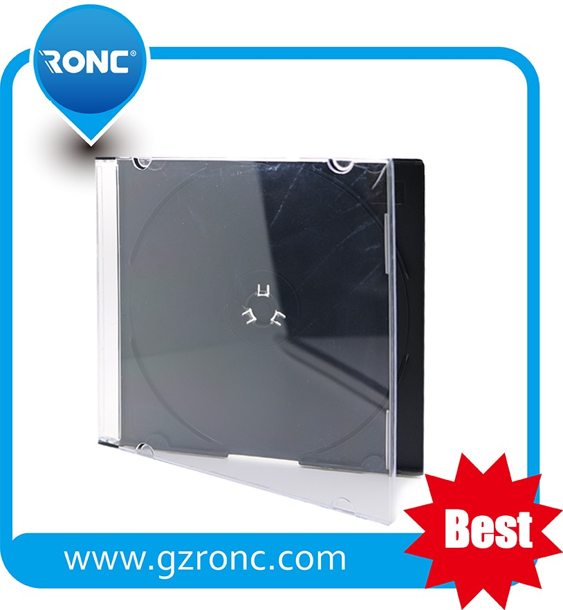 Wholesale dvd Case Manufacturer 10.4mm Clear CD DVD Case