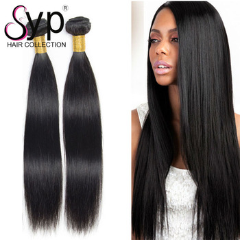 100% Brazilian Black Straight Silky Afro Style Unprocessed Raw Human Hair Extension Bundle Deal