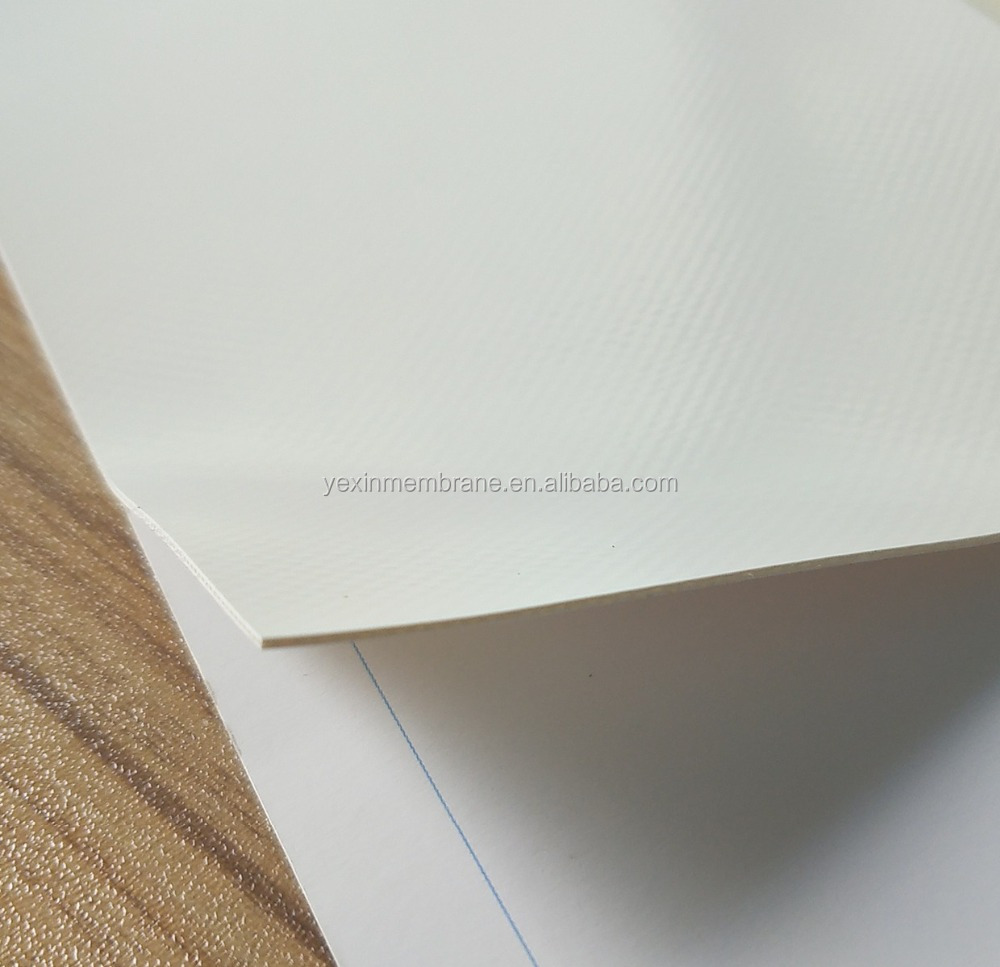 High quality PVC and PVDF membrane sheet for architecture and tent TIO2 coating PVC membrane