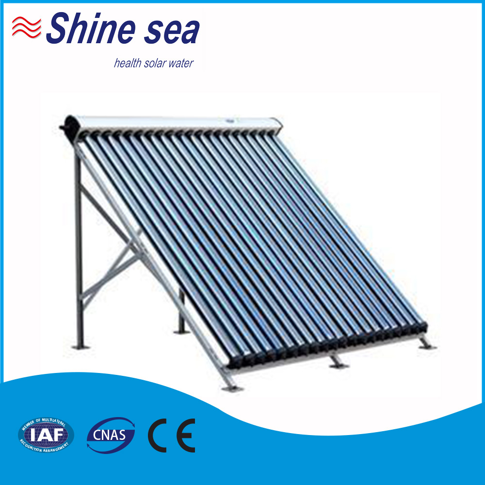 18tubes pressurized solar collector water heater system