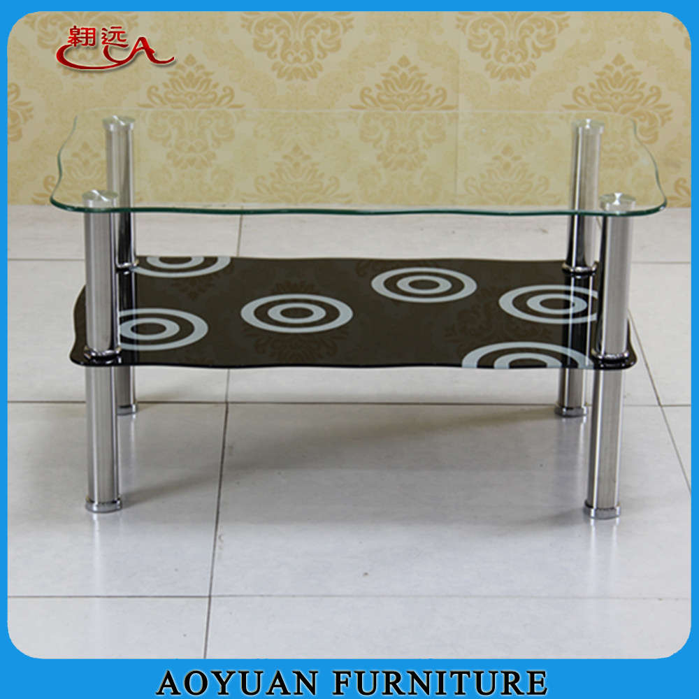 Eleglant glass metal frame home furniture coffee table for Metal frame glass coffee table