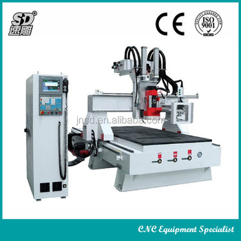 Automatic tool change woodworking machine Circular ATC wood CNC Router SD-1224D