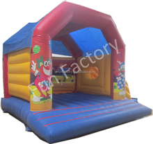 Mini Party Inflatable clown bouncer for Christmas without door with slide