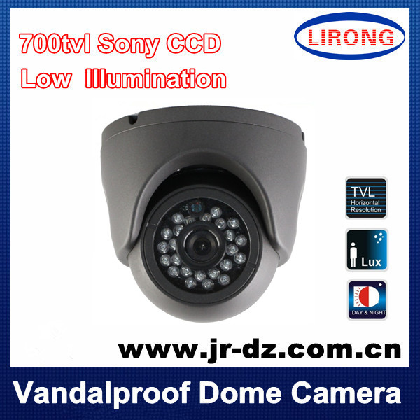 Security Surveillance Vandalproof dome Camera IR 24LED 700tvl 960H indoor CCTV night vision NTSC/PAL