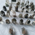natural tiny green ghost phantom quartz crystal points crystal healing wands for pendants