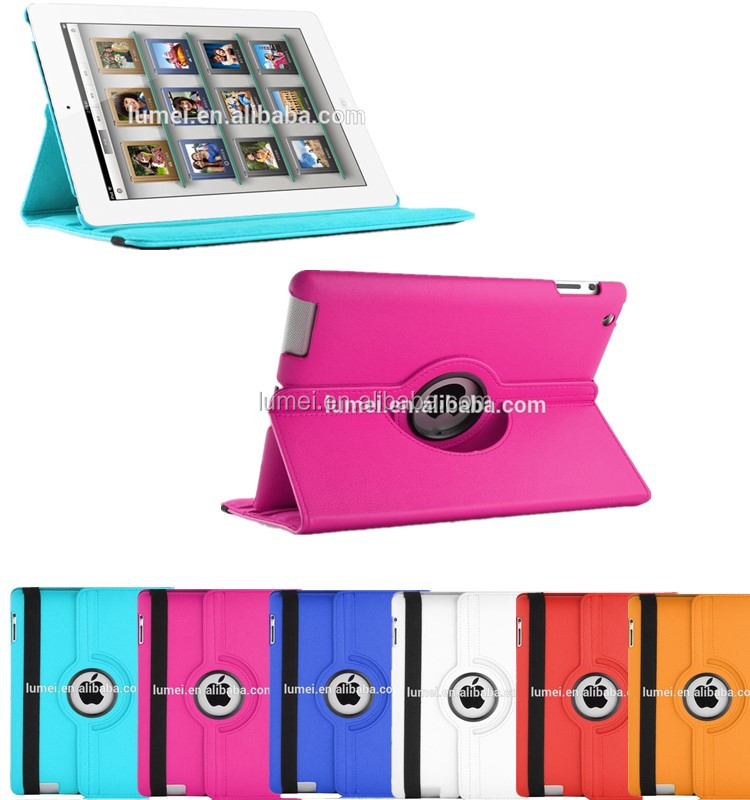 360 Degree Rotating Flip Stand Pu Leather Back Case Cover for ipad air 2/3/4
