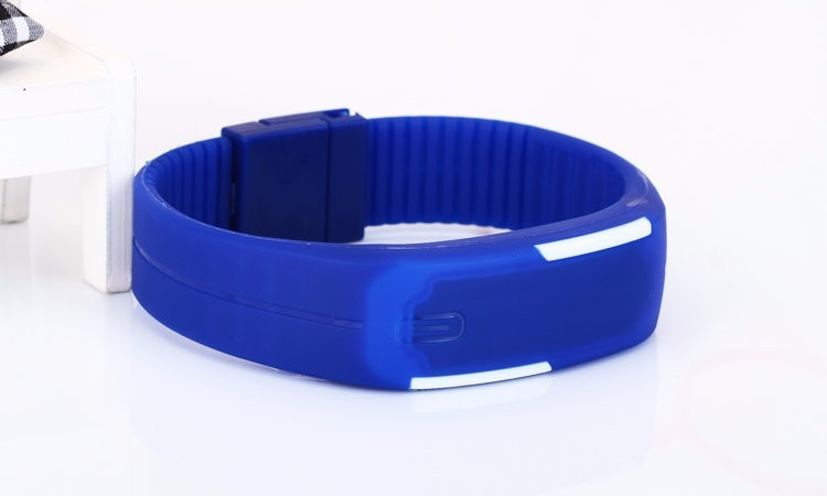 Silicone Digital LED Sports Bracelet mens wrist watches S5-0247