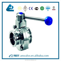 One End Weld The Other End Screw Sanitary Butterfly Valve