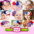 Independence day star baby girl flower headband boutique baby hair accessories