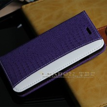 unique design crocodile fip leather case for iphone 6, high quality mobile phone case