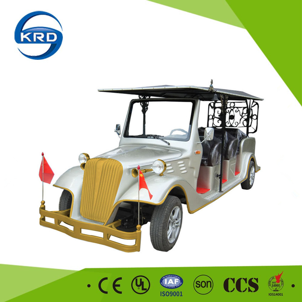 New energy saving type 8 seats electric delivery vehicle chinese resort vintage electric car