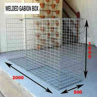 Hot dipped galvanized welded gabion box/2*1*1m welded gabion basket