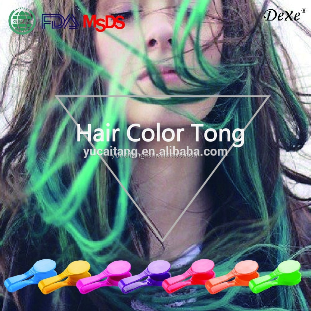 Hair Chalk Dye Temporary glitter hair dye for fast single use hair coloring