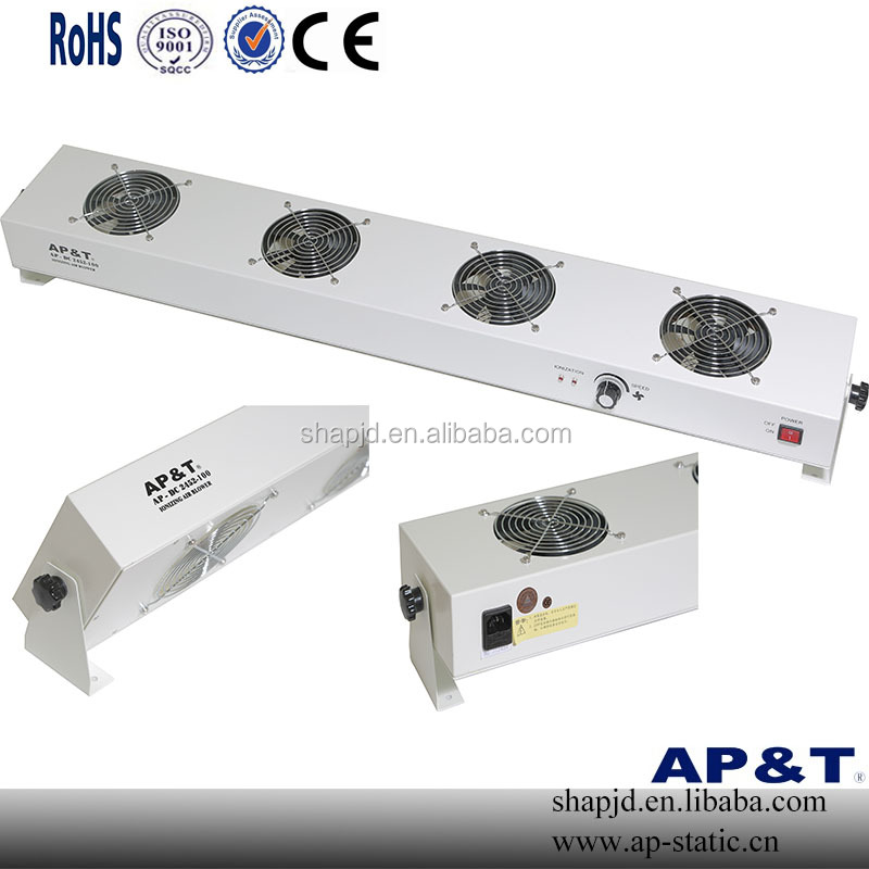 AP-DC2452-100 Static Eliminator Four Fan Overhead Ionizing Air Blower esd bench top ionizing air blower