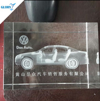 Cheap Small Engraved 3d Crystal Car Model For Gifts