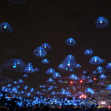 Christmas LED fiber optic jellyfish light for holiday decoration