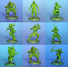 Custom plastic game figure,Cartoon plastic minature figure for board game,OEM making plastic miniature game figure