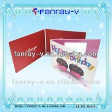 Hot selling Popular 4.3inch audio video greeting cards