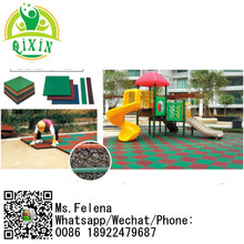 Hot sale cheap safety rubber mat used rubber floor mat for outdoor playground, garden, school