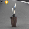 Beautiful decorative glass bottle reed diffuser with rattan sticks