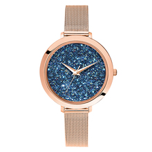 Own logo ladies fancy hand watches mesh wrist strap japan movt bell and rose quartz laser watches