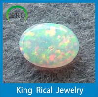 Oval cabochon white op17# synthetic opal stone