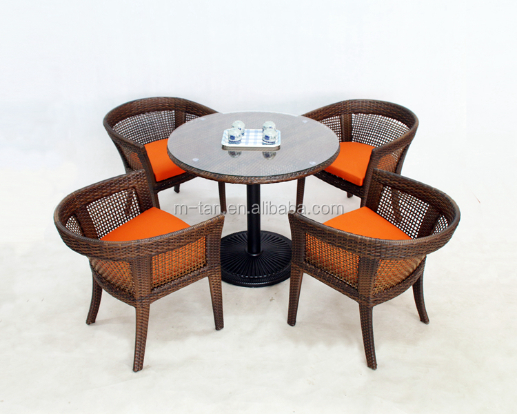 Wholesale Leisure Ways 4 Seaters Dinning Set Table And