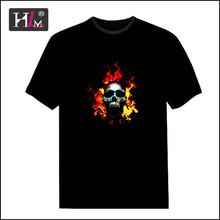 2015 Hotsale Specialized in t-shirt 15 years el panel t-shirt painting with individual design