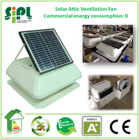 roof mounted heat recovery ventilation system solar powered heat exhaust fan attic air blower