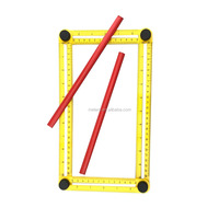 Multi Angle ABS Ruler Measures All Angles Angle-izer Template Tools with pencil