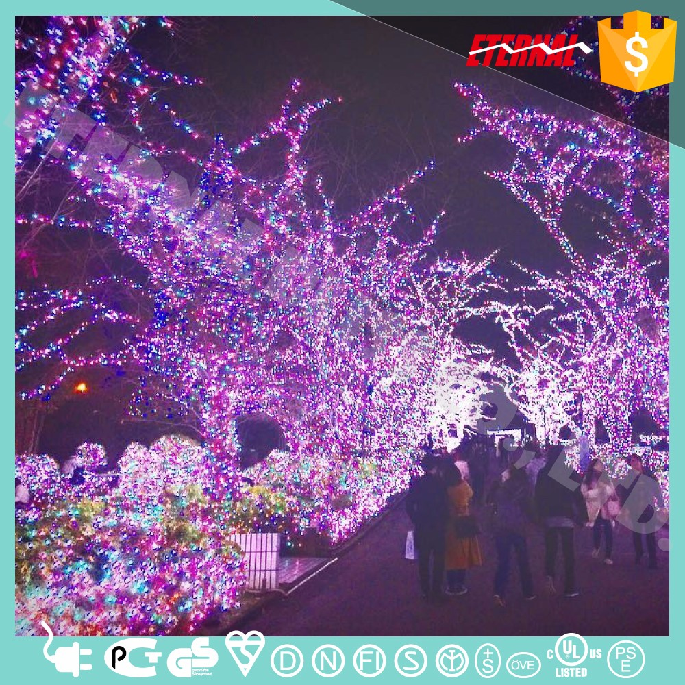 Decoration outdoor tree lighting led chasing christmas lights