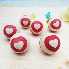 Cheap china toys lovely heart design rubber big bounce ball for kid vending machine