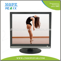 "Hot sale 17 inch LCD/LED monitor for desktop with VGA DVI 17"" lcd led TV monitor"