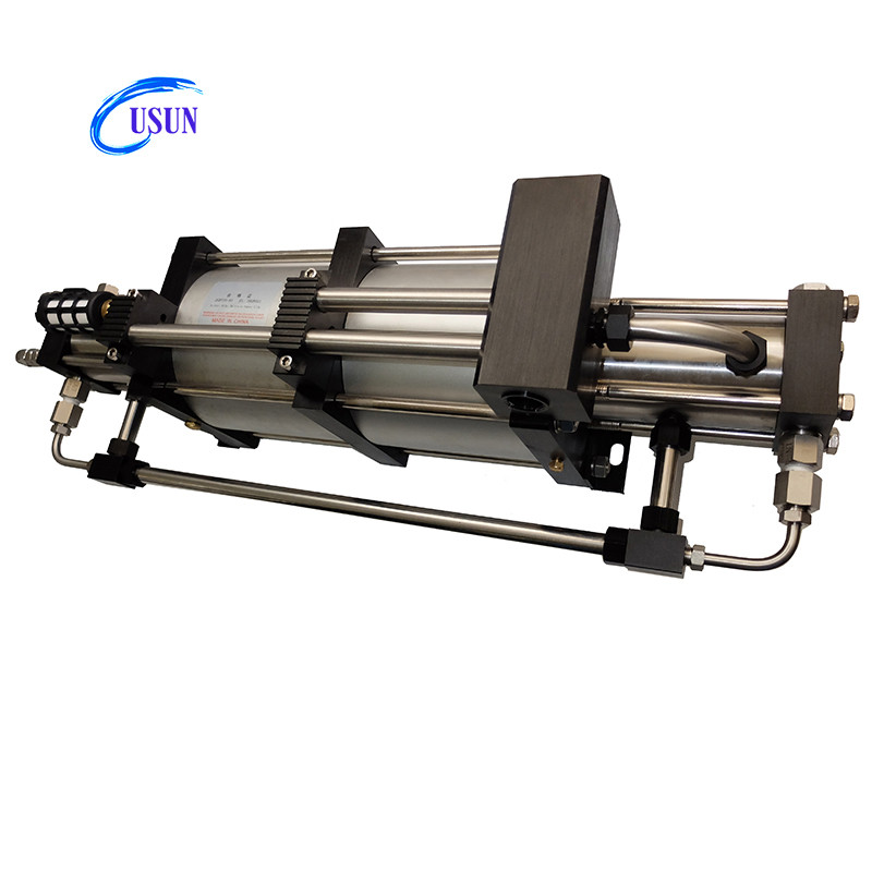 Newly design USUN Model:2GBT7/15 124.5 Bar Output double stage pneumatic gas booster