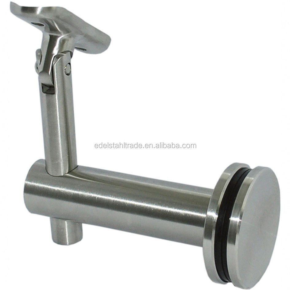 316 Stainless Steel Glass Mounted Stair Handrail Bracket