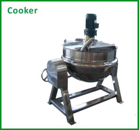 Pressure jacketed kettle/cooker for bean