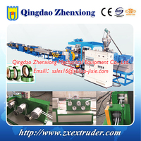 PP PET packing strap band extruding machine production line
