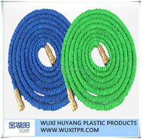 [Gold Huyang] expanding garden water hose pipe,brass fitting expandable garden hose flexible, hot water flexible hose