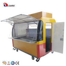 Outdoor Mobile Food Kiosk Design/Cart/Trailer Fast Food Cart Design Ice-cream Cart Mall Food Kiosk for Sale
