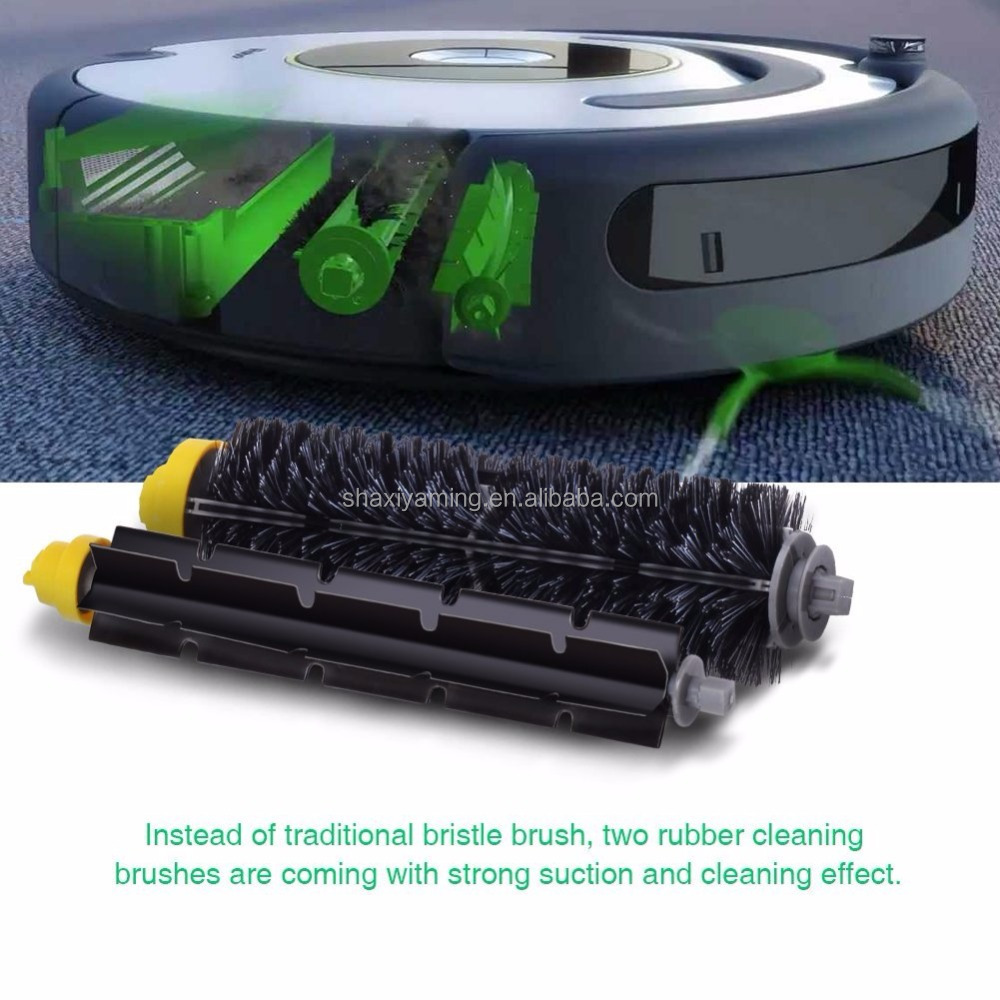 for robot cleaner 600 700 series, bristle brushes with bearings flexible beater brushes & debris extractor brush & main brush