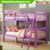 Grape Wooden Over Bunk Bed for Girl with Ladder