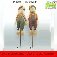 Thanksgiving harvest occasion holiday craft gift scarecrow stick for outdoor farm decoration