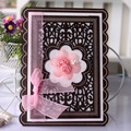 Wholesale 2016 Flower Wooden Laser Cut Graduation Invitation Card